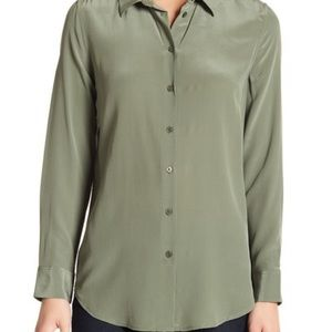Equipment Femme Essential Blouse Olive Green S